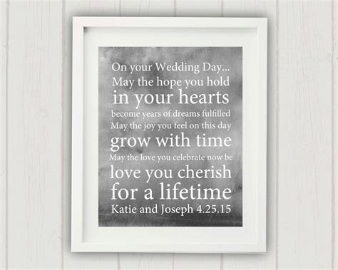 Unique Wedding Blessing wedding blessing print personalized wedding gift unique