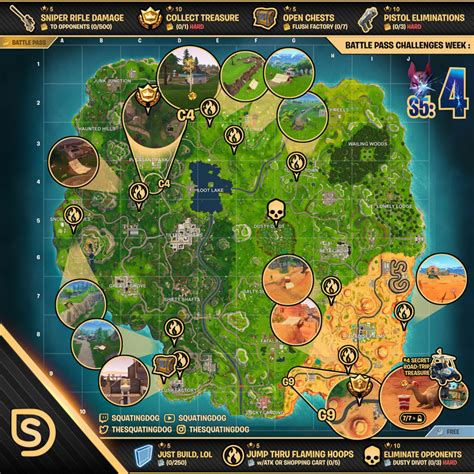 fortnite challenges for season 5 season 5 week 4 challenges wheel of fortnite