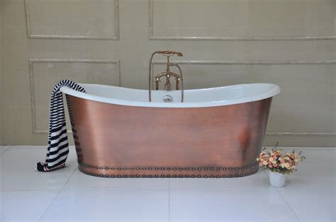old cast iron bathtubs for sale hot sale antique freestanding cast iron tub wrapped in copper skirt