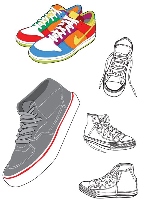 shoes vector sports shoes and canvas shoes vector free vector 4vector
