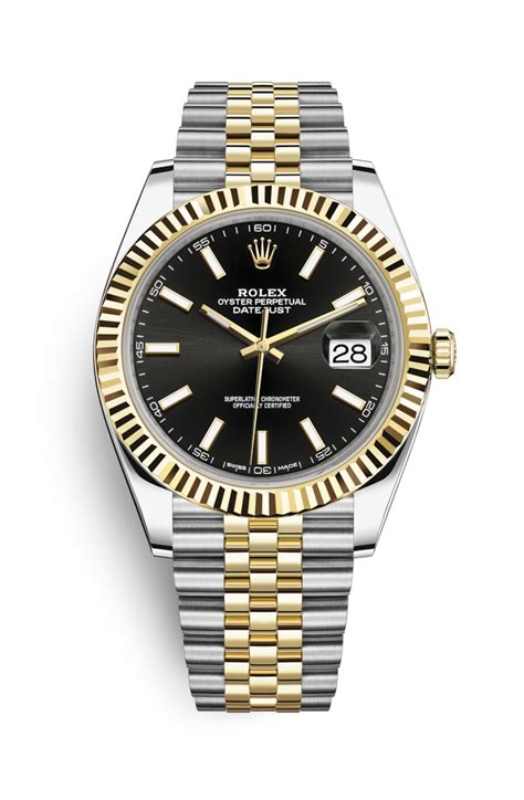 Rolex Classical Combi Black Gold rolex datejust 41 yellow rolesor combination of oystersteel and 18 ct yellow gold 126333