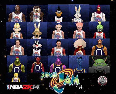 film michael jordan cartoon nba 2k14 space jam mod updated to v4 0 nba2k org