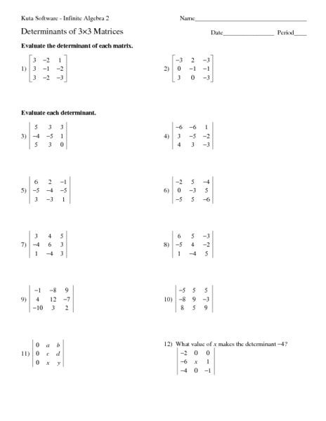 Adding And Subtracting Matrices Worksheet by Worksheets Adding And Subtracting Matrices Worksheet