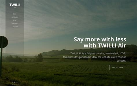 bootstrap themes background image twilli air minimalist one page theme wrapbootstrap