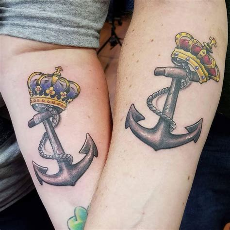 king queen tattoo king and crown tattoos