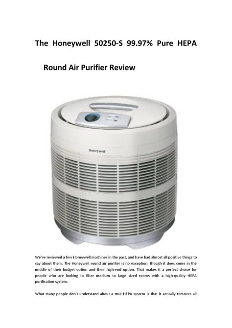honeywell     pure hepa  air purifier