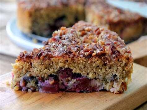Plumb Recipes by Plum Cake With Pecan Streusel Recipe