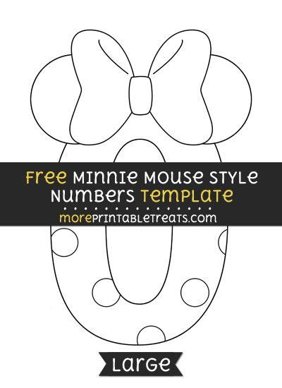 minnie mouse cut out template free minnie mouse cut out template free template design