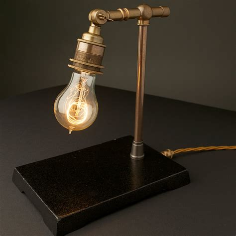 Small Globe Table Lamp vintage industrial brass small table lamp