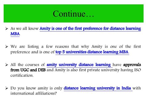 Amity Distance Learning Mba Syllabus by Amity Distance Learning Mba In Hrm Human Resource