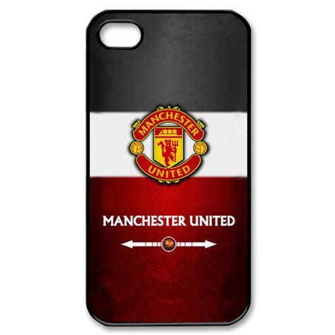 Iphone 4 4s Manchester United Stripe Black Cover Casing manchester united iphone 4 4s custom for iphone 4 4s