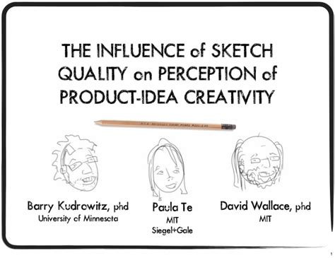 sketchbook quality the influence of sketch quality on perception of product