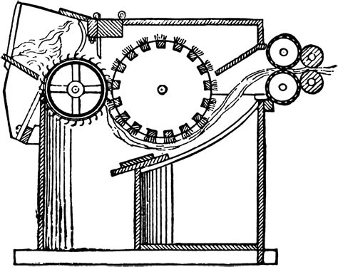cotton gin diagram cotton gin drawing images