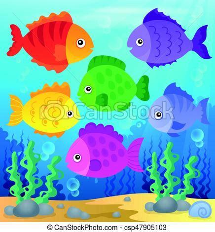 pesci clipart stilizzato pesci tema illustration