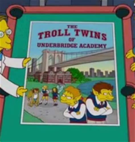 the troll twins of underbridge academy simpson wiki en espa 241 ol fandom powered by wikia