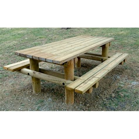 banquette exterieur 3307 table de pique nique publique en bois dmc direct