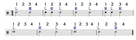drum pattern left right left left beginner drum lesson part 2 8notes com