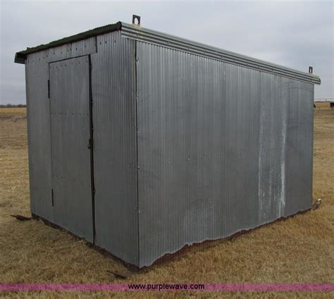 Corrugated Metal Shed by Foam Insulated Metal Shed No Reserve Auction On Monday