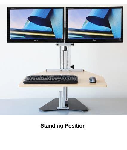 kangaroo monitor stand kangaroo elite desktop sit stand workstation dual monitor