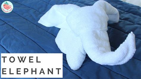 how to fold a towel animal elephant towel folding in