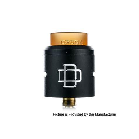 Authentic Rda Druga 24 authentic augvape druga rda black 304 ss 24mm rebuildable atomizer