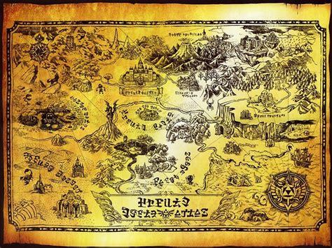 legend of zelda map poster quot hyrule map legend of zelda quot posters by knollgilbert