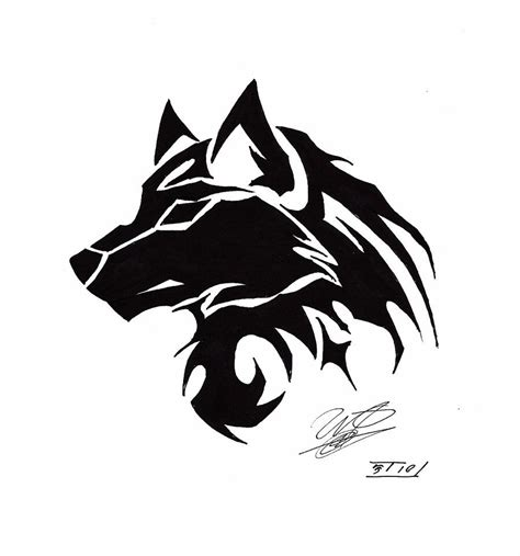 tribal wolf tattoos art tribal wolf search tatoo