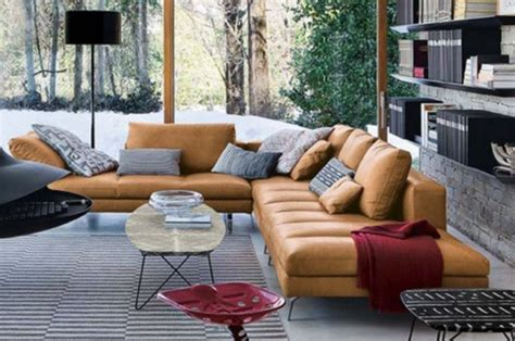 long sectional  sofa   tancognaccamel