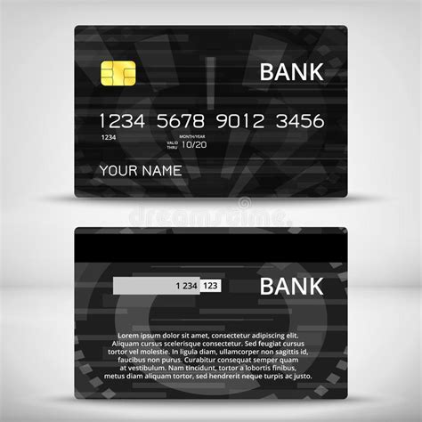 credit card design template vector templates of credit cards design stock vector image