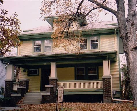 type of house american foursquare house american foursquare historic house colors