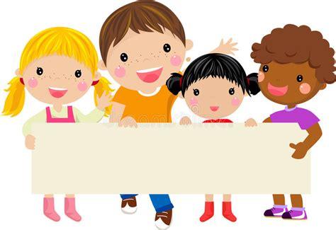imagenes niños felices animadas ni 241 os felices que sostienen una bandera ilustraci 243 n del