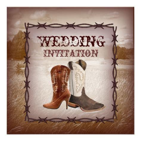Cowboy Wedding Invitations by Cowboy Boots Western Country Wedding Invitation 5 25
