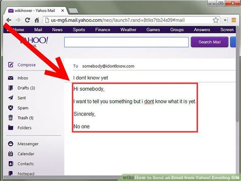 email yahoo how to send an email from yahoo emailing site 6 steps