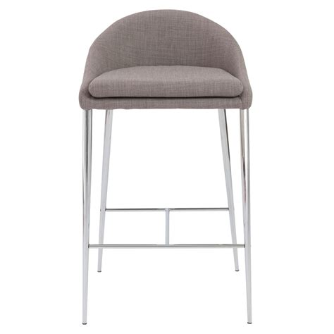 zuri bar stools sally counter stool in gray with chrome legs set of 2