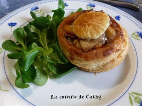 cuisine vol au vent aux chignons recettes de noix de jacques de la cuisine de cathy