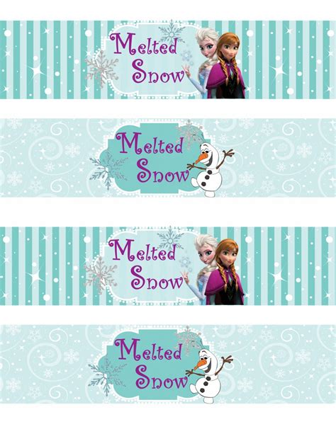 free printable frozen labels parties