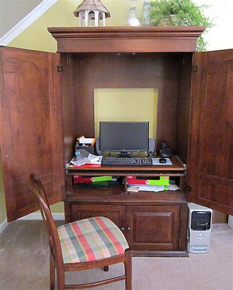 diy tv armoire armoire office diy transformation homedesignpictures