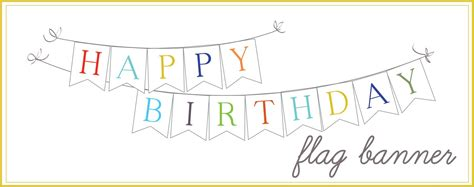 10 best images of happy birthday banners printable outline
