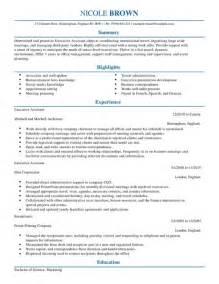 Executive Assistant CV Example for Admin   LiveCareer