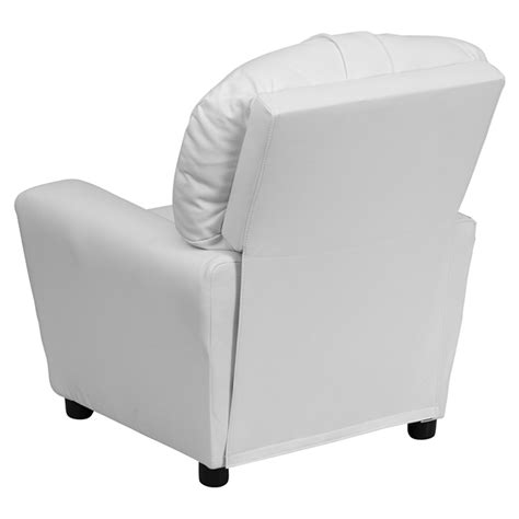 recliner chair with cup holder upholstered kids recliner chair cup holder white dcg