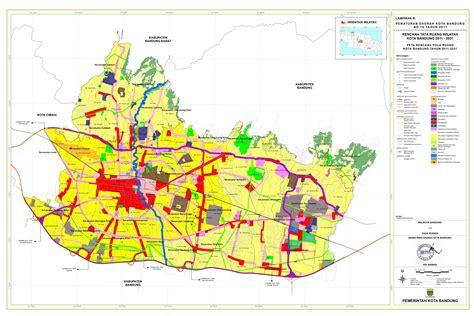 Peta Lipat Kota Cimahi file peta rencana pola ruang rtrw kota bandung 2011 2031 ttd jpg wikimedia commons