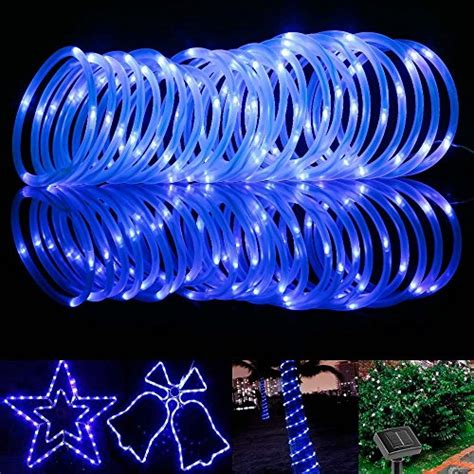 le 33ft 100 led solar power rope lights waterproof
