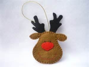 reindeer felt template 41 handmade ornament patterns for and adults