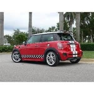 mini cooper rally checkered side stripes porsche style on