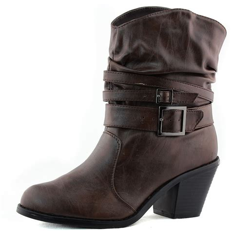 cowboy ankle boots womens ankle high straps western cowboy mid calf