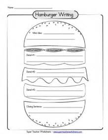 hamburger paragraph graphic organizer 3rd 4th grade