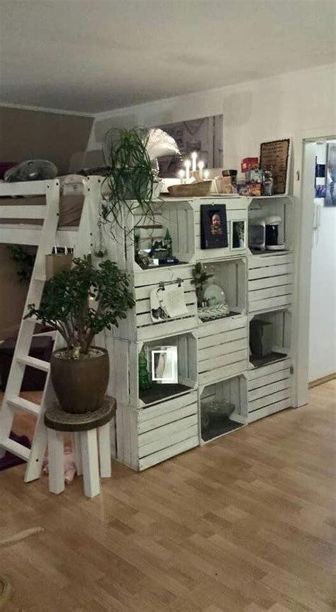 wandschrank aus europaletten diy regal obstkisten obstkistendesign