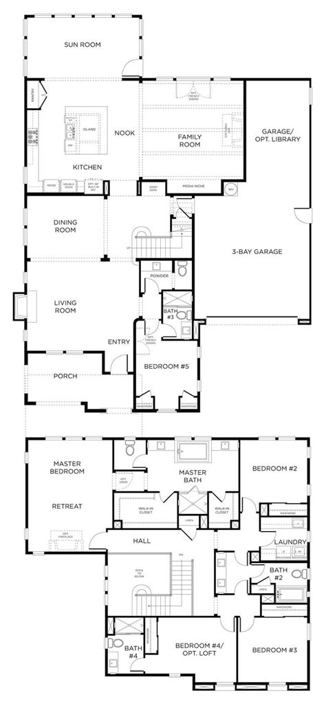 double storey floor plans floor plan friday double storey home