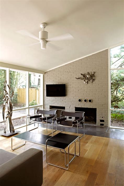 Mid Century Modern Fireplace by 25 Midcentury Living Room Design Ideas Decoration