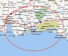 map pensacola florida area water service area h2o technologies and distribution of